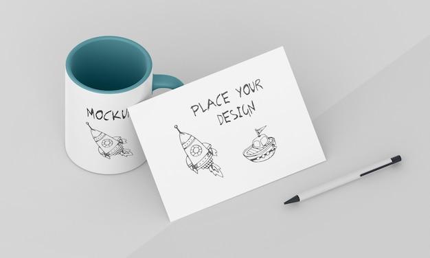Arreglo de maqueta de taza personalizada