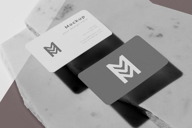 Arreglo moderno de tarjeta de visita de maqueta