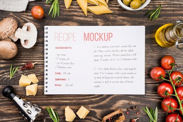 Arreglo plano de verduras saludables