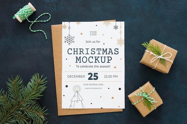 Arreglo plano de víspera de navidad
