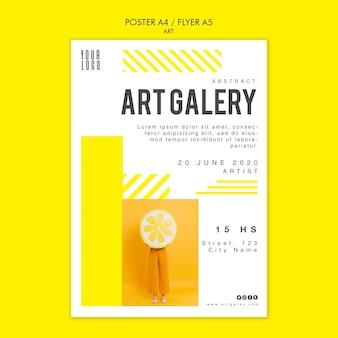 Art concept poster sjabloon