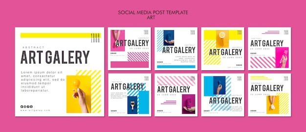Art concept sociale media postsjabloon