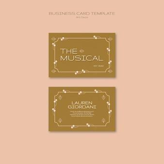 Art deco muzikaal visitekaartje