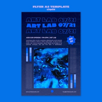 Art wave flyer-sjabloon