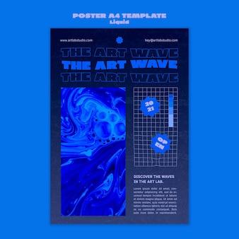 Art wave poster sjabloon