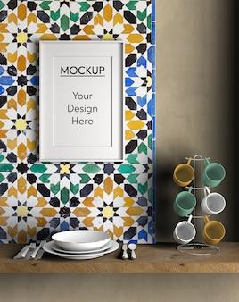 Artículos de cocina de diseño de interiores.