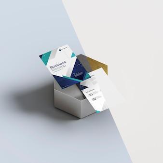 Artículos de papelería en forma de panal abstracto