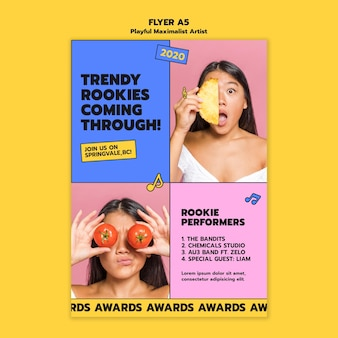 Artist awards flyer-sjabloon