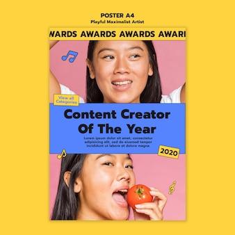 Artist awards poster sjabloon