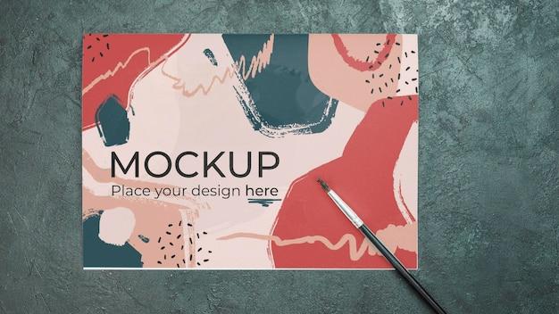 Artist concept assortiment met papieren mock-up