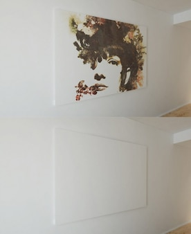 Artistieke canvas mock-up