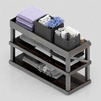 Asciugamani su una griglia di legno