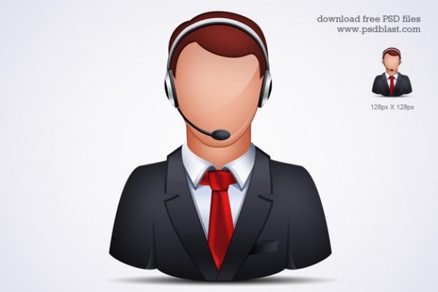 Assistenza clienti on-line icona psd