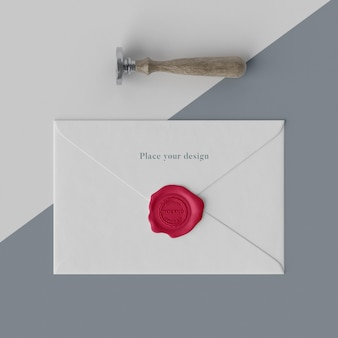 Assortiment mock-up zegel voor envelop