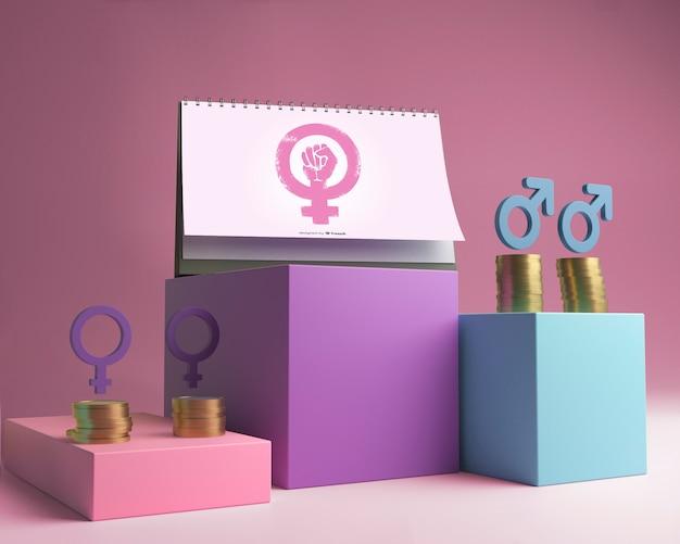Assortiment voor concept van gendergelijkheid