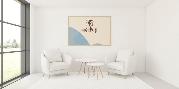 Assortiment voor interieur met mock-up frame
