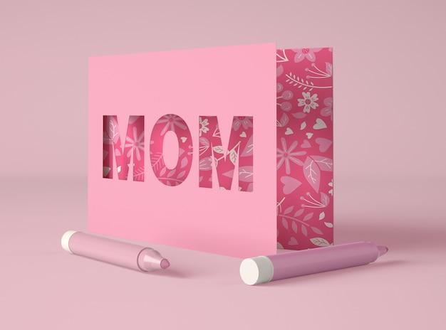 Assortiment voor moederdag met kaart