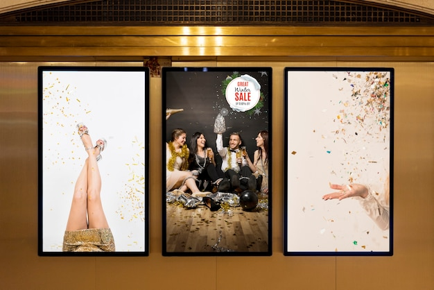 Assortimento di modelli di cartelloni pubblicitari