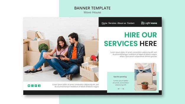 Assumi il nostro modello di banner di servizi