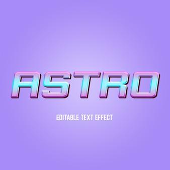 Astro, estilo de efecto de texto moderno psd