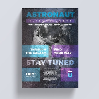 Astronaut flyer sjabloon