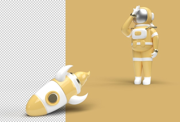 El astronauta cohete se está cayendo del archivo psd transparente de disappointment gesture