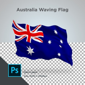 Australië vlag wave transparant psd