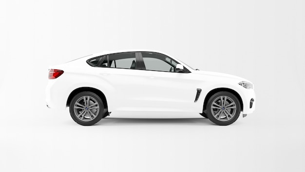 Auto bianca isolata