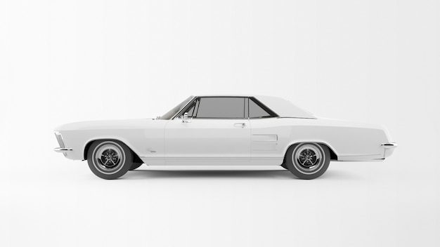 Auto bianca vecchio stile