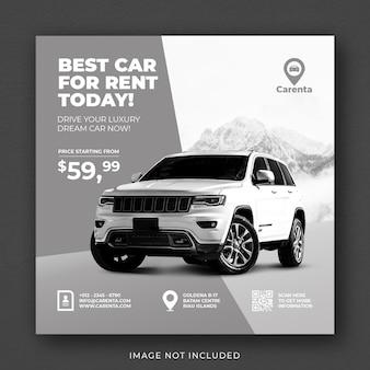 Autoverhuur promotie sociale media instagram post-sjabloon voor spandoek