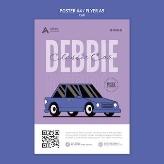Autoverkoop poster of flyer ontwerpsjabloon