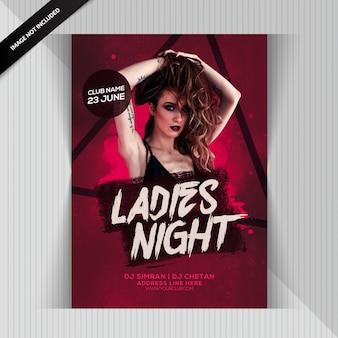 Aviador de la fiesta de la noche de las señoras