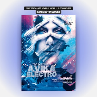 Avika electro party flyer