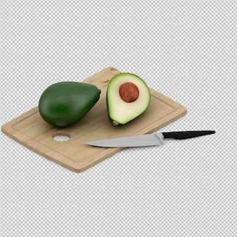 Avocado 3d render