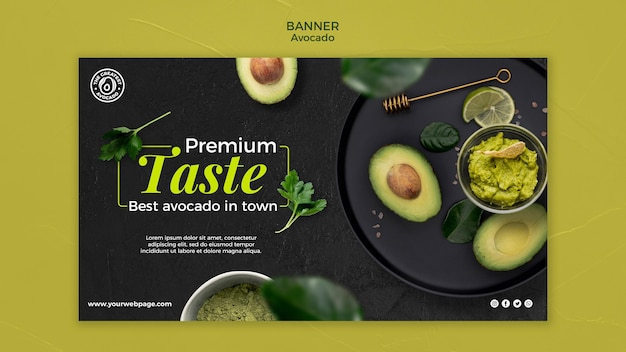 Avocado concept sjabloon voor spandoek