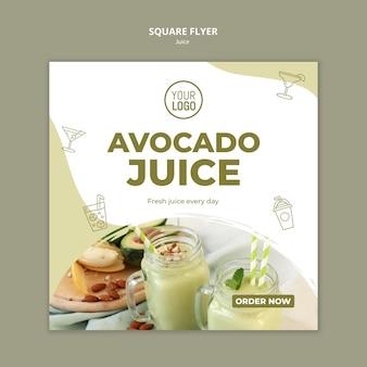 Avocado-sap vierkante flyer