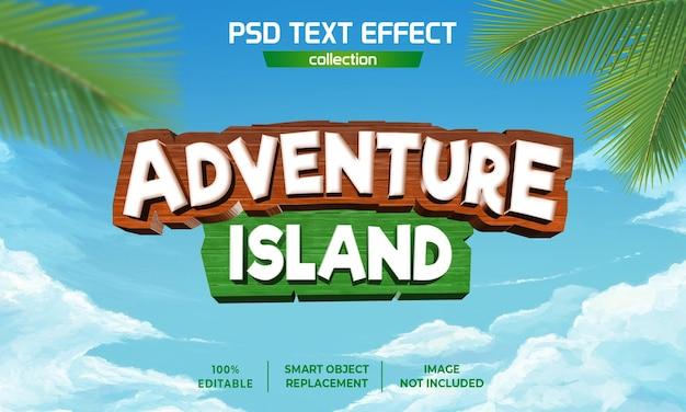 Avontuur eiland arcade tekst effect