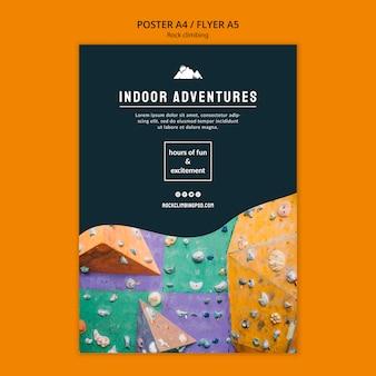 Avventure indoor in arrampicata su roccia