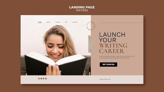 Avvia la pagina di destinazione della tua carriera di scrittore