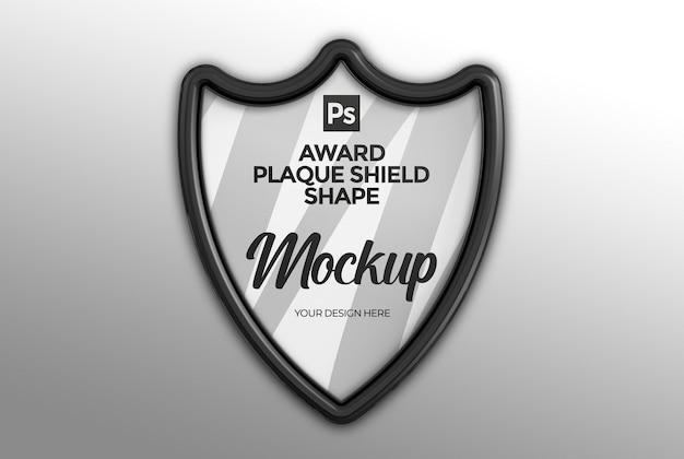 Award plaque schild vorm mockup