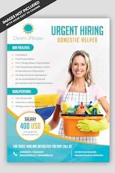 Ayudante de contratación maid flyer