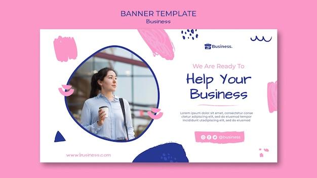 Ayude a su plantilla de banner empresarial