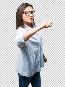 Aziatisch vrouwenponsen