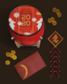 Aziatische ornamenten voor het nieuwe jaar