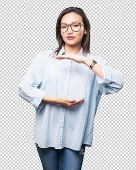 Aziatische vrouw dimensionering