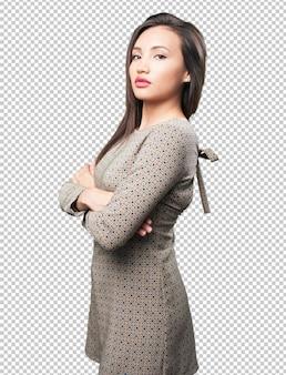 Aziatische vrouw poseren