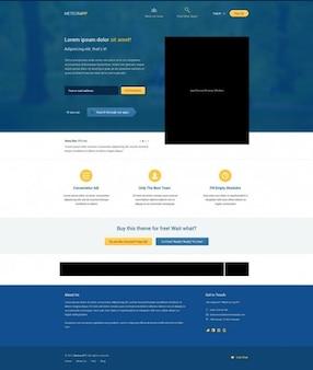 Azules elementos de la interfaz web psd