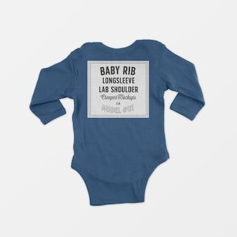 Baby rib lange mouw lap schouder klimplant mockup 07