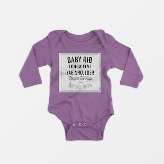 Baby rib longsleeve lap schouder klimplant mockup