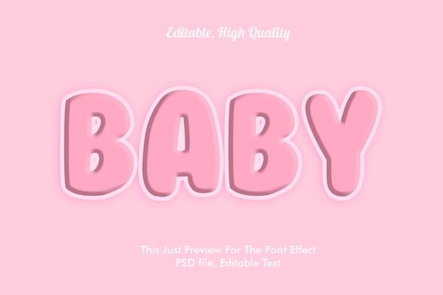 Baby roze lettertype effect mockup